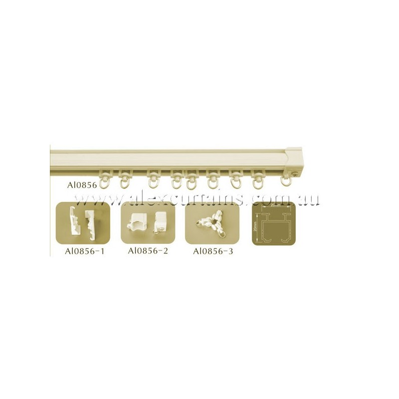 Curtain Tracks, AL0856, Cream colour